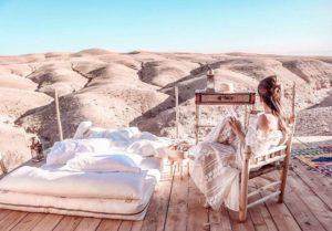 マラケシュの砂漠で泊まるアガファイデザートラグジュアリーキャンプ