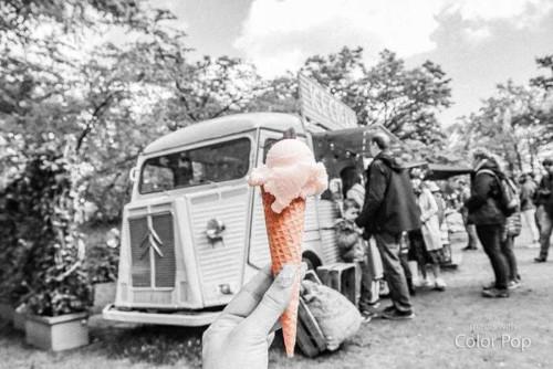 キューケンホフ公園にはアイス屋さんもある