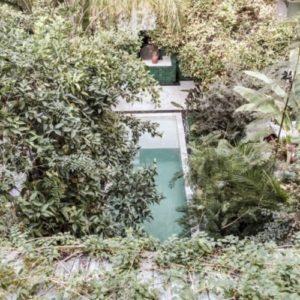 マラケシュのオシャレなリヤドkituraのおしゃれな中庭