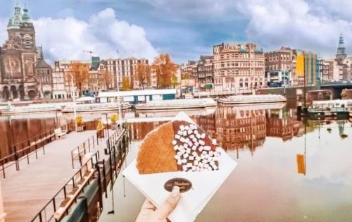 アムステルダムのフォトジェニックなストロープワッフル